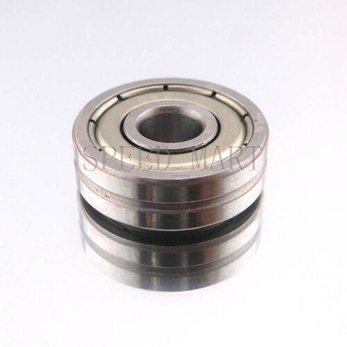 10 X V608ZZ 608VV V Groove Guide Pulley Rail Ball Bearings Metal 8mm*22mm*7mm