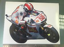 Marco Simoncelli STICKER/DECAL-Bike Pegatina 300mm X 230mm Grande