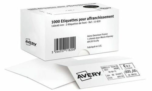Avery Frankier-Etiketten Etiketten weiß 140x40 zweifach 1000 Stück Beschriftung