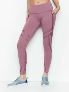 NWOT Victoria Secret VSX Sport Knockout Crop Capri Fitted Leggings Pink Leopard