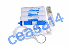 For Water Filter RO Purifier COMPLETE SERVICE KIT + 75 GPD Hi-Tech MEMBRANE