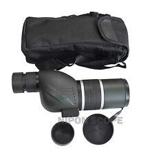 12-36x50B spotting scope with straight eyepiece. 12-36x power, twist-up eyecup