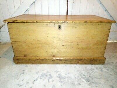 Wooden Blanket Box Coffee Table Trunk Vintage Chest Wooden Ottoman Toy Box LU2