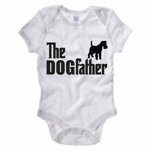 Funny Themed Baby Grow//Suit Schnauzer Gift Idea Novelty THE DOGFATHER