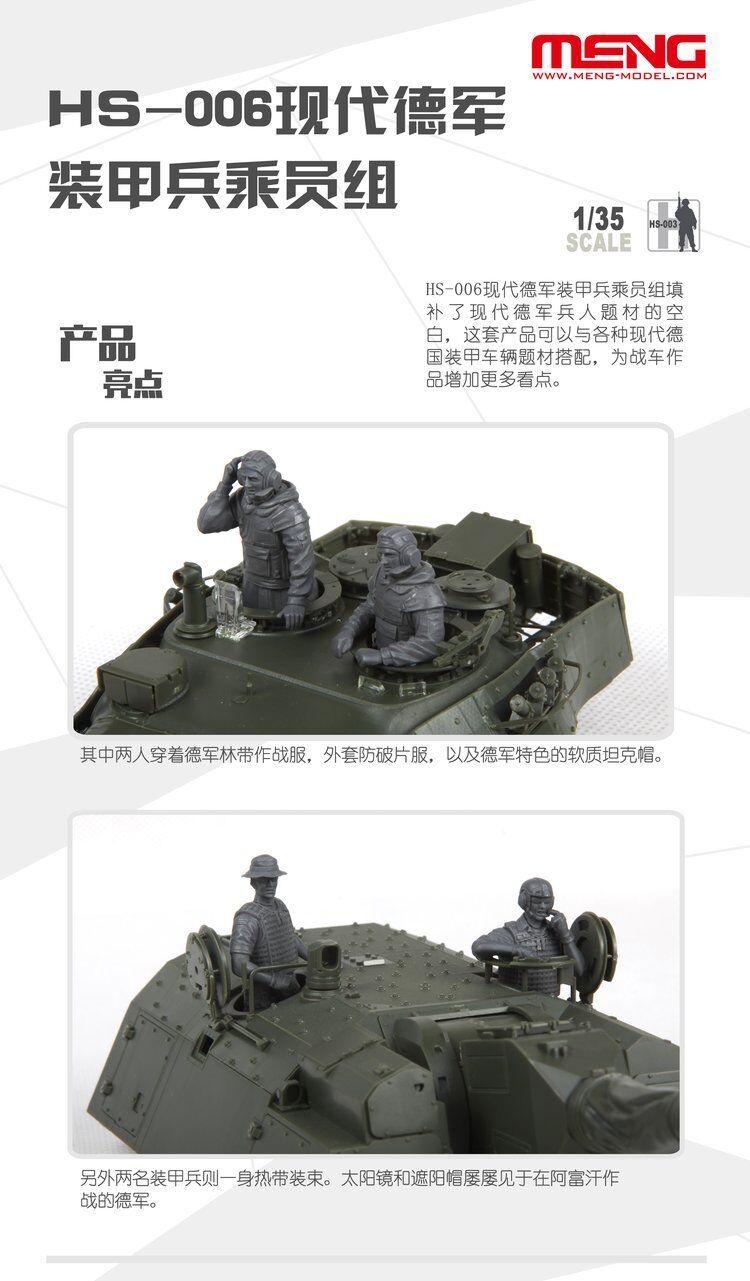 Meng-Model HS-006-1:35 Modern German Tank Crew Neu