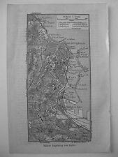 stampa antica OLD PRINT MAP MAPPA SICILIA PALERMO PALERM MONTE PELLEGRINO1930