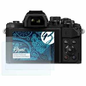 Bruni-2x-Schermfolie-voor-Olympus-E-M10-Mark-II-Screen-Protector