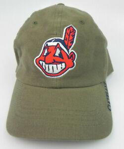 CLEVELAND INDIANS PUMA ATA MLB VTG RELAXED CHIEF WAHOO ARMY GREEN HAT NEW! RARE!