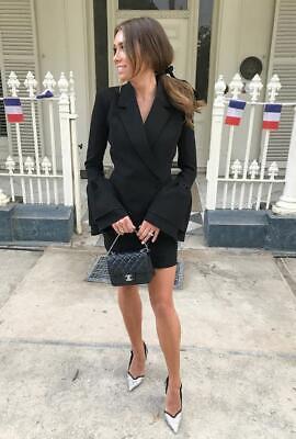 MISHA COLLECTION Larissa Black Crepe Flare Cuff Sleeve Blazer Dress AU6   eBay