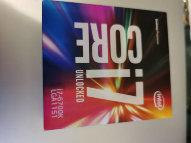 Intel Core i7-6700K Skylake Processor 4.0 GHz QuadCore LGA1151 BX80662I76700K