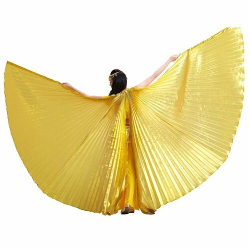 Women/'s Iridescent Isis Wings for Egyptian Belly Dancing with Telescopic Sticks
