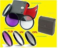 3pcs Filter Kit Cpl Uv Fl-d Circular Polarizer Ultraviolet To Fuji Finepix P900