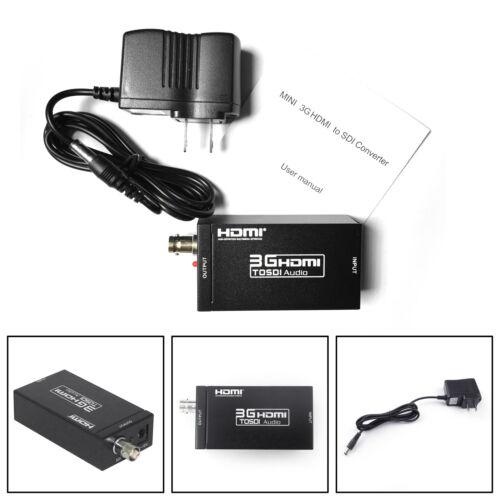 3G SDI HDMI 1080P HD Video Audio Converter Extender BNC Coaxial Cable Adapter PY