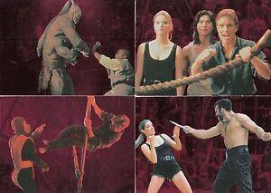 mortal kombat movie 1995 skybox embossed red foil insert card set f1