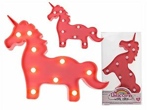 Luminaire-decoratif-Applique-murale-lampe-de-table-pinkfarbenes-Licorne-9