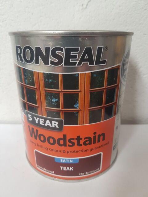 Ronseal 5 year woodstain - 750ml - Satin Teak