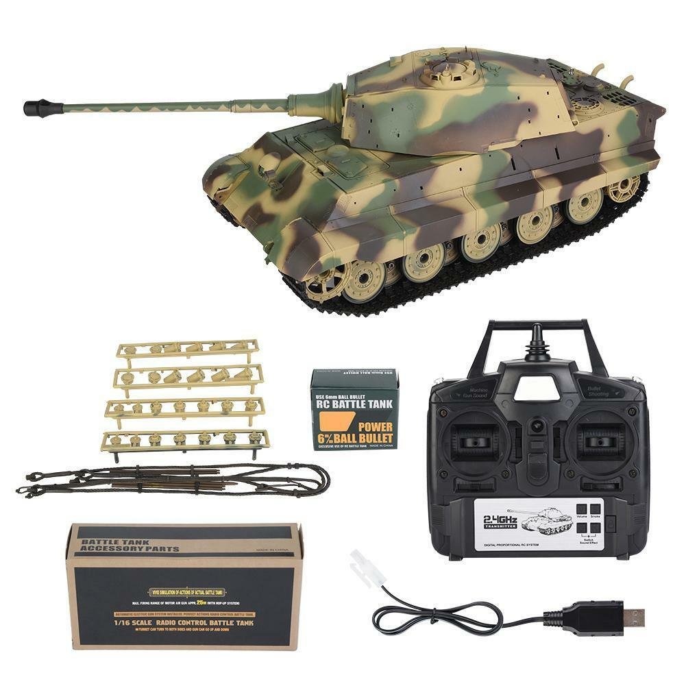 Henglong 1 16 German Tiger King Henschel Heavy-duty Remote Control Tank 3888A-1