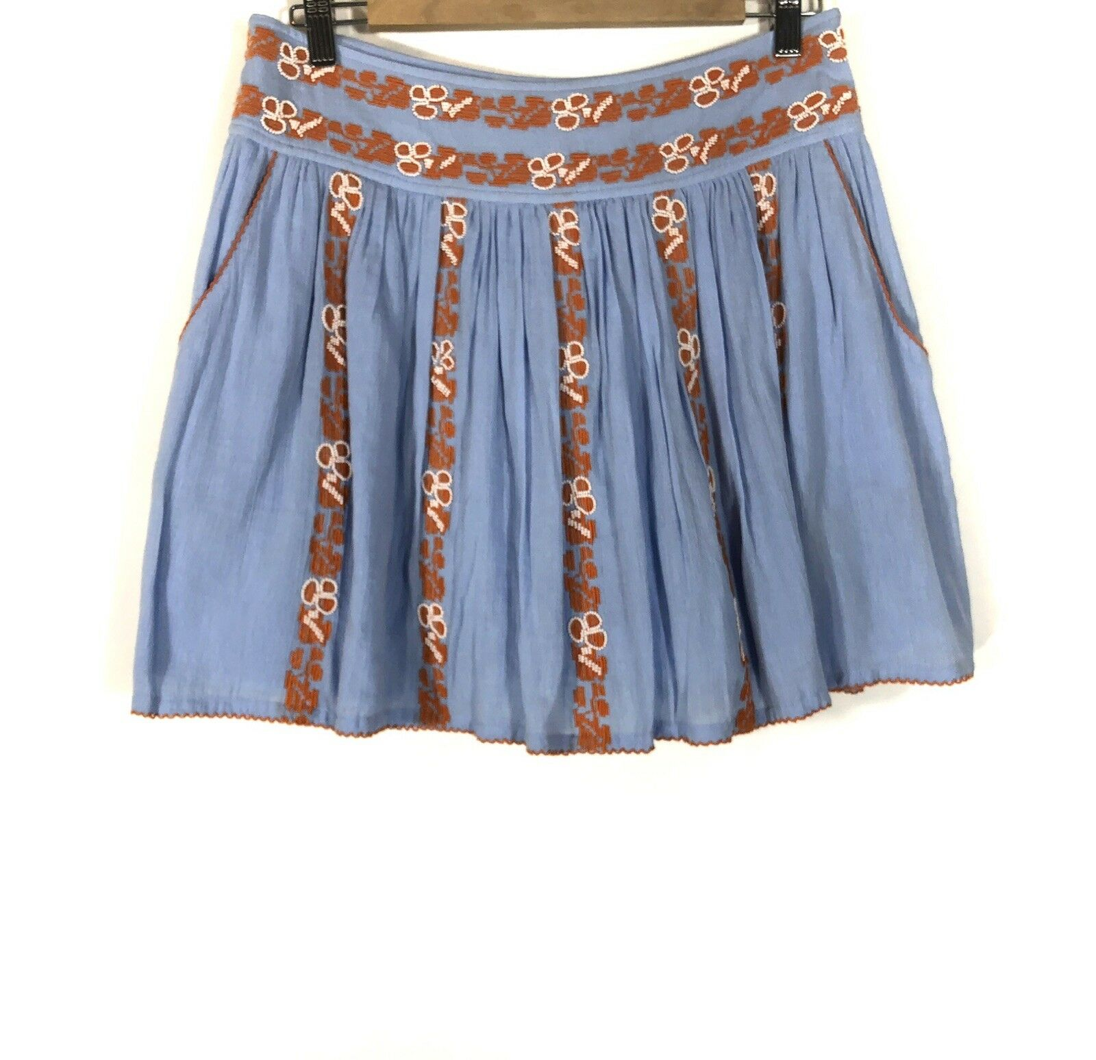 Tory Burch Women's Alexandria bluee Embellished Every Day Mini Skirt  size 6