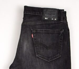 Levi's Strauss & Co Hommes 511 Slim Jeans Extensible Taille W34 L32 ATZ468