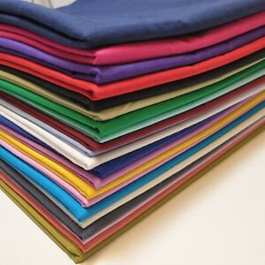 Navy Blue Premium Quality 44 Plain 100/% Cotton Fabric for Crafts and Dressmaking By The Meter