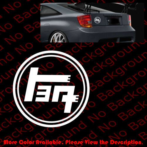 OUTLINE of TOYOTA Vintage TEQ Japanese JDM Vinyl Car Windows Decal DIE CUT TY008