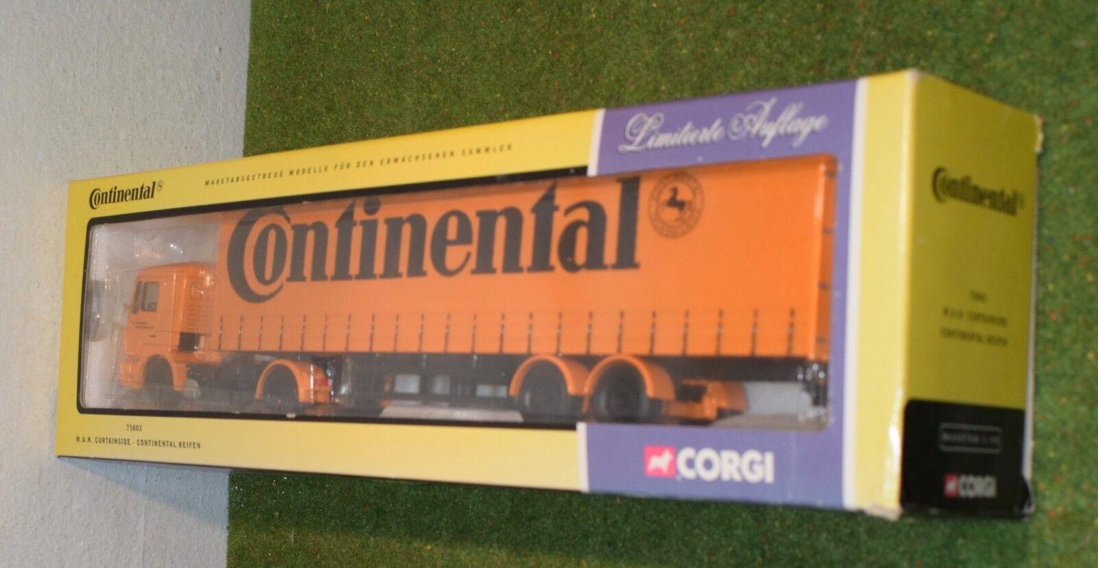 tienda de bajo costo Die cast cast cast corgi 75805 mA. N. Curtainside continental Reifen escala 1 50  comprar nuevo barato