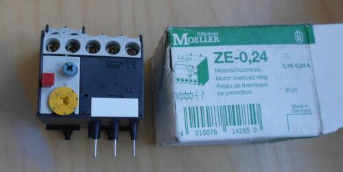 OVERLOAD RELAY moeller overload relay 0,16-0,24 A PART NO.ZE-0,24