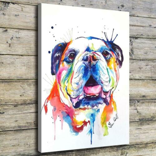 Watercolor Dog HD Canvas prints Painting Home decor Picture Room Wall art Poster