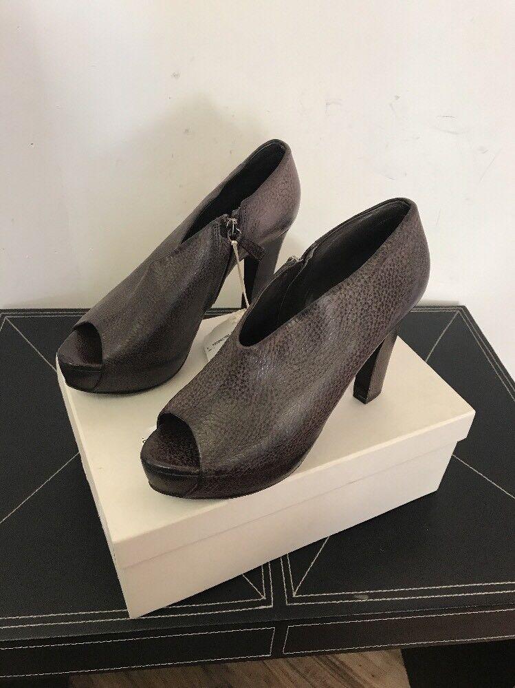 risposta prima volta New New New Brunello Cucinelli Platform Heel Marrone Pebbled Leather EU SZ 39  698  basso prezzo del 40%
