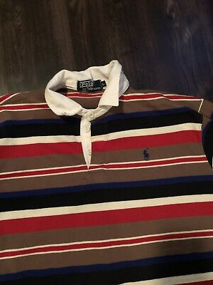 Vintage Polo Ralph Lauren Striped Shirt Men's L/s Large Pony Luxuriant In Design Shirts