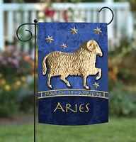 Toland - Zodiac Aries - Blue Astrological Horoscope Ram Garden Flag