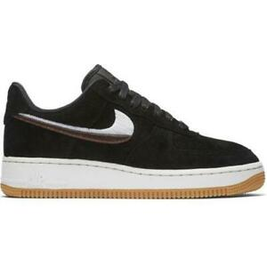 Details about Womens NIKE AIR FORCE 1 07 LX Black Trainers 898889 010