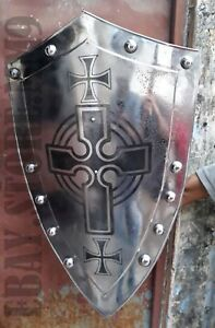 Medieval-KNIGHT-Shield-Handcrafted-Battle-Armor-Medieval Shield For Halloween N1