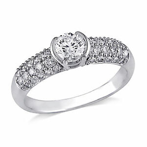 Amour 1 CT Diamond TW Engagement Ring in 14K White Gold