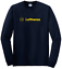 Navy Blue Lufthansa Vintage Logo German Airline T-Shirt Long Sleeve Shirt S-5XL