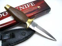 Full Tang Pa2800 Wood Handle 6 Fixed Dagger Boot Knife + Clip Sheath 2800
