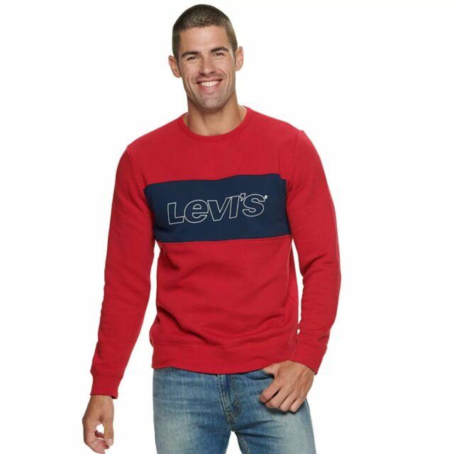 Levi/'s Men/'s Size Large Red Logo Graphic Crewneck Sweatshirt for sale online