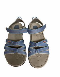 Teva-Womens-7-5-Tirra-Sport-Sandals-Blue-Adjustable-Strap-Walking-Hiking-Water