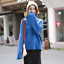 thumbnail 17 - Women-039-s-Knitwear-Turtleneck-Sweater-Loose-Long-Sleeve-Pullover-Jumper-Baggy-Tops