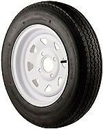 """12/"""" Trailer Wheel /& Tire Assembly 530x12B  Mounted 4 Hole//Spoke 840 Load Rated"""
