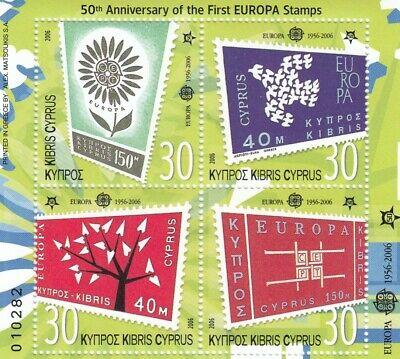 Zypern Block ** Mnh 50 Jahre Europa Cept GroßEr Ausverkauf 280738 Europa Briefmarken