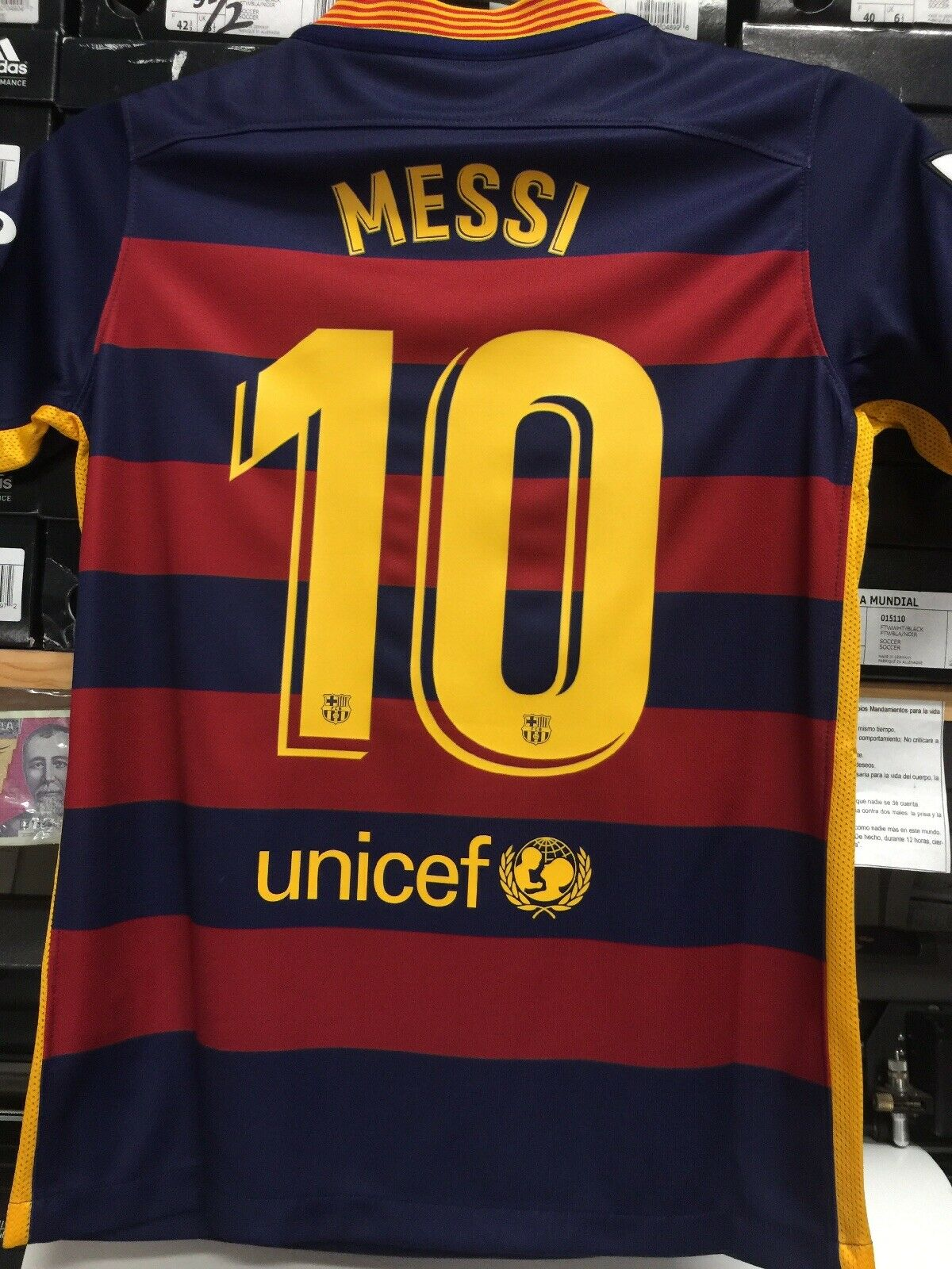 Nike Fc Barcelona Home Jersey 15 16 Blue Red Lionel Messi 10 Youth Medium Only For Sale Online