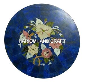 Marble Coffee Center Table Top Rare Mosaic Marquetry Inlay Patio Art Decor H2039