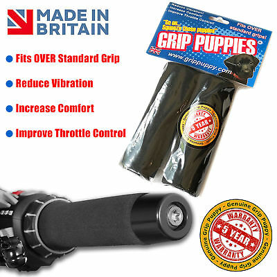 2 x Motorbike Motorcycle Slip-on Foam Anti Vibration Comfort Hand Grip Cover ~er