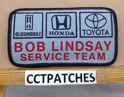 Clever Oldsmobile Honda Toyota Bob Lindsay Dienstzeit Team Dealer Aufnäher