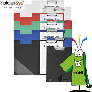 FolderSys Klemmbrett A4 versch Farben Klemm Brett Clipboard Schreibbrett