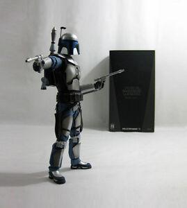 2007 Vintage Star Wars ✧ Jango Fett ✧ Medicom Rah Sideshow En Parfait état, Dans Sa Boîte-afficher Le Titre D'origine