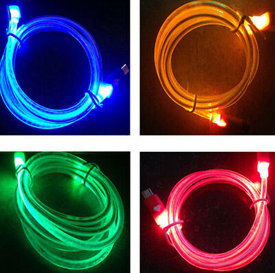 Micro USB Charge Data Sync Cable for Android Samsung Sony hTC LED Visible Light