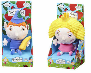 talking ben elf and holly princess plush soft toy ben and hollys