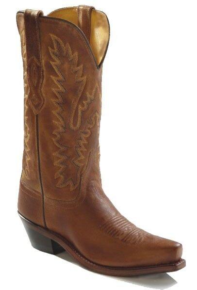 Cowgirl botas Old West Damas botas Marrón Claro, artículo  LF1529